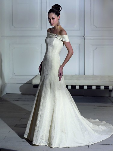 boat neck wedding gown. Black Bedroom Furniture Sets. Home Design Ideas