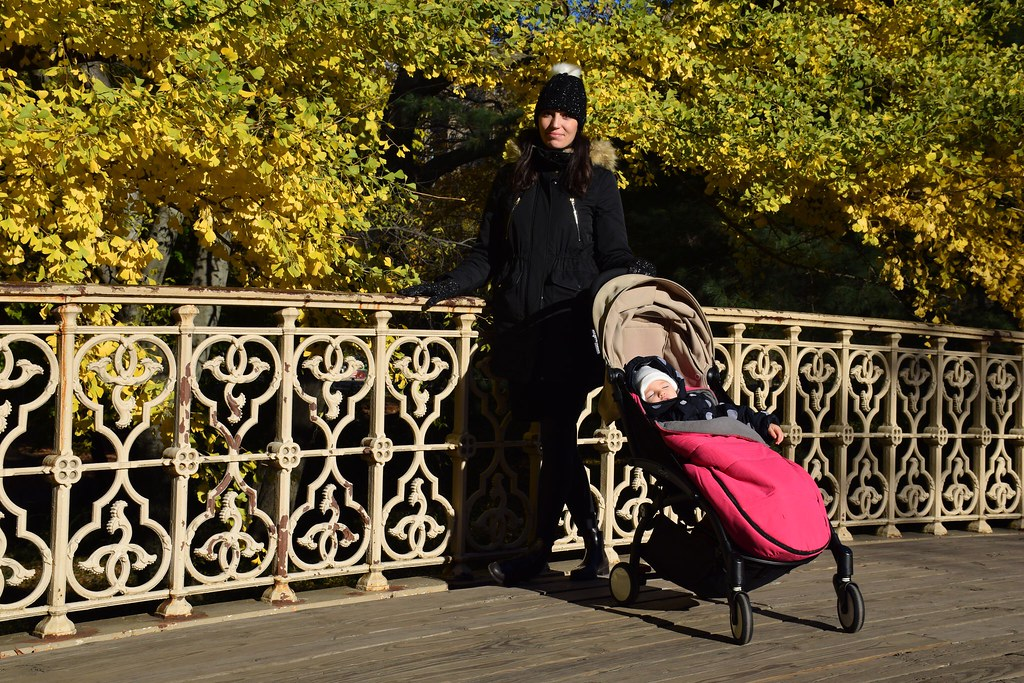 Cruzando Central Park a primera hora de la mañana.