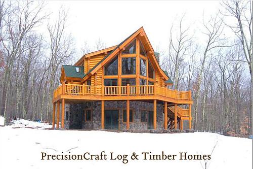 Custom Log Home   Located in Rhode Island   PrecisionCraft Log & Timber Homes