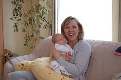 Nicole and her daughter Emilija