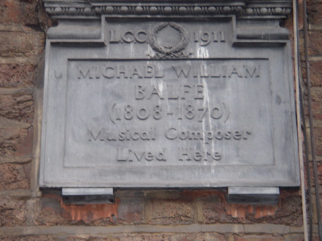 Photo of Michael William Balfe grey plaque