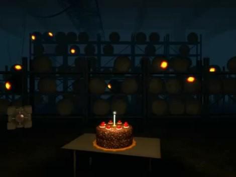 It's the birthday cake!