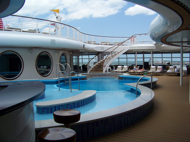 Adults only deck area