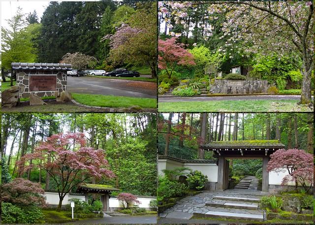 Entrance To Portland Rose Gardens : Entrance to the portland japanese garden nestled in