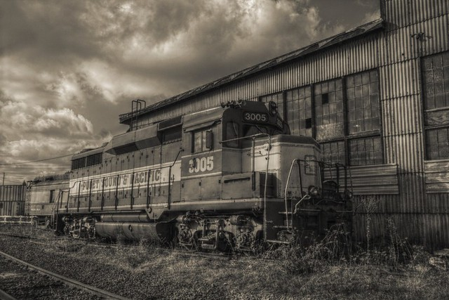 Brooklyn Roundhouse - in Sepia