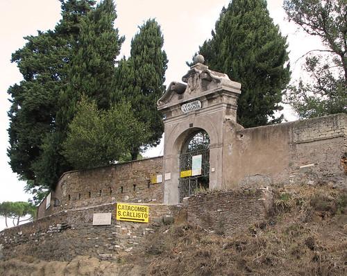 Entrance to San Callisto's catacomb