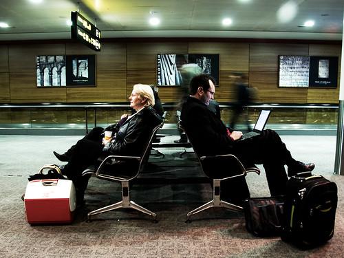 Morning at the Dublin airport