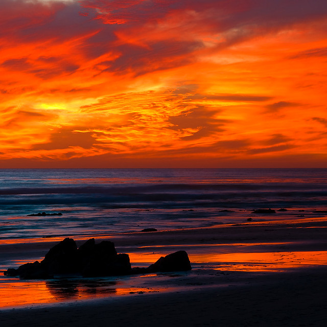 Hendry's Beach Red Sunset