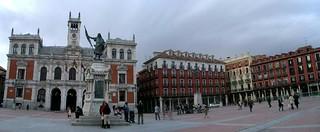 Estatua del Conde Ansúrez 的形象. panorama españa spain arquitectura panoramic valladolid plazamayor urbanismo ayuntamiento panorámica condeansúrez