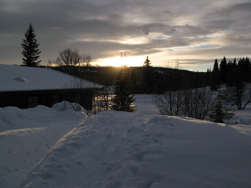 winter sunset norway norge sonnenuntergang norwegen valdres oppland