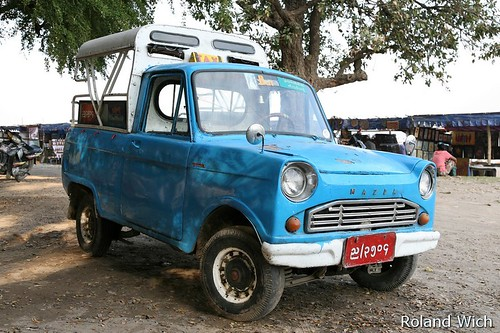 Ripituc the old little mazda trucks from burma burma blue mazda taxi altavistaventures