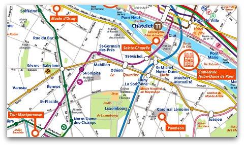 Carte metro paris avec monuments my blog for Carte paris touristique