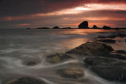 longexposure sea sky sun seascape beach beautiful clouds sunrise coast interesting rocks sony tide peaceful calm northsea coastline northeast marsden a550