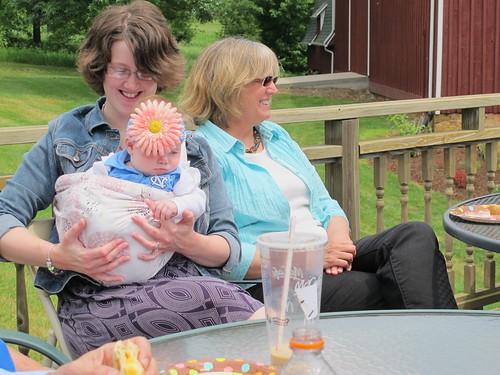 Elizabeth, Martha, and baby Maddie
