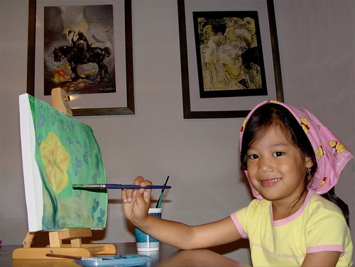 painting kids, DIY Projects to Do With The Kids At Home