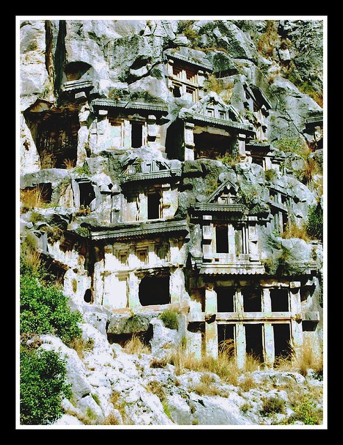Rock-cut tombs in Myra