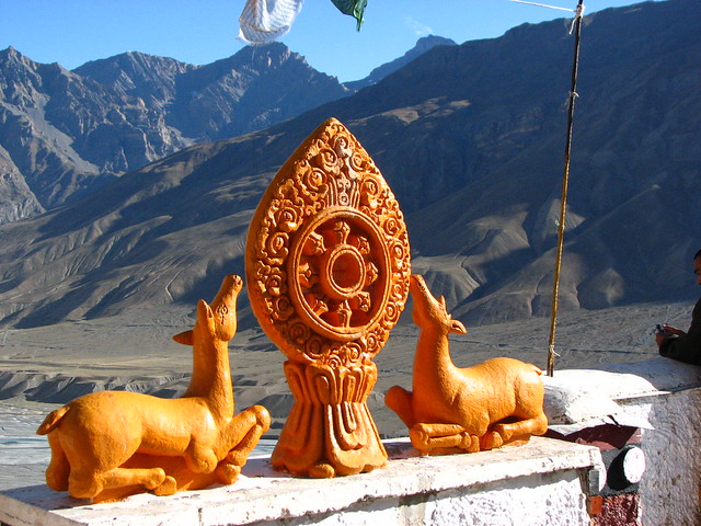 on top of kye gompa: view of spiti valley