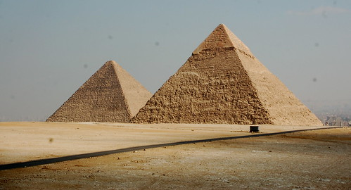 Pyramids of Khafre and Khufu, Giza