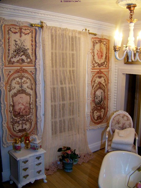 Salle de bains rideaux et panneaux explore bthierus 39 photo flickr - Rideaux salle de bain ...