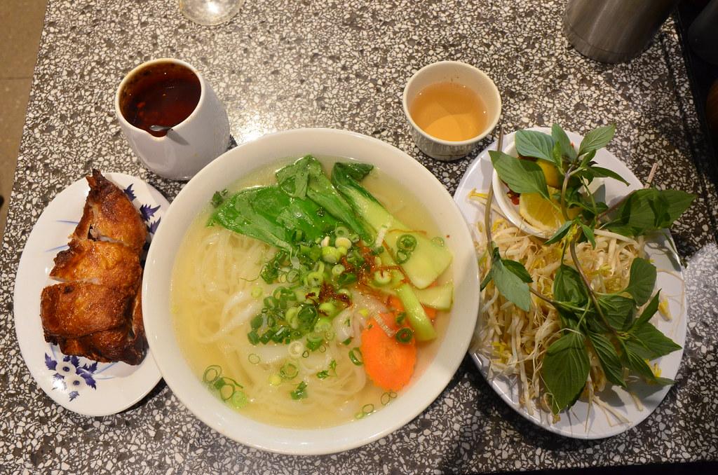 Crispy fried chicken pho noodle soup AUD12 - Pho Dzung, Me