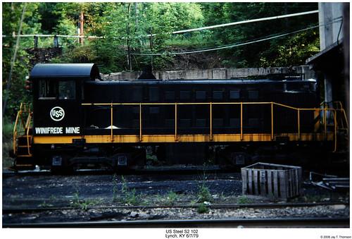 railroad lynch train diesel kentucky railway trains locomotive trainengine ussteel uss s2 switcher alco switchengine fouraxle endcabswitcher