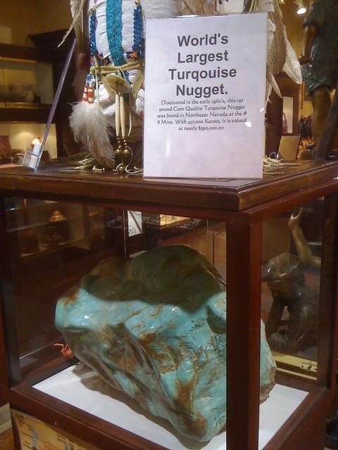 Santa Fe News >> World's Largest Turquoise Nugget | Flickr - Photo Sharing!