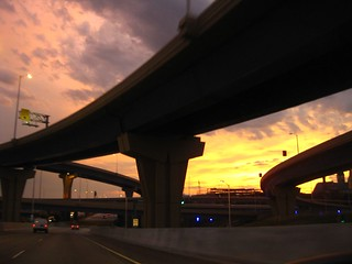 Marquette Interchange at Sundown