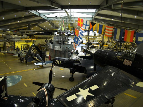 The main hangar floor with aircraft on display