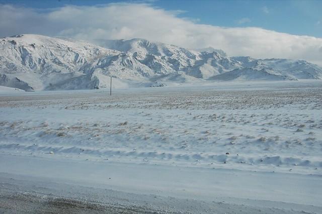 Mountain Views, Snowy Peaks - Naryn, Kyrgyzstan