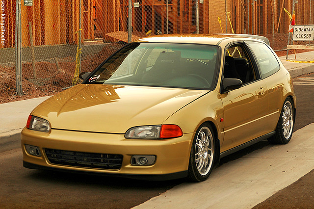 Jorge 39 s gold honda civic eg hatch flickr photo sharing for Gold honda civic