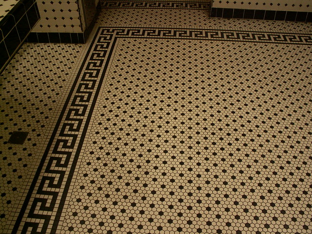Hollywood Brown Derby - Restroom - Floor tile detail