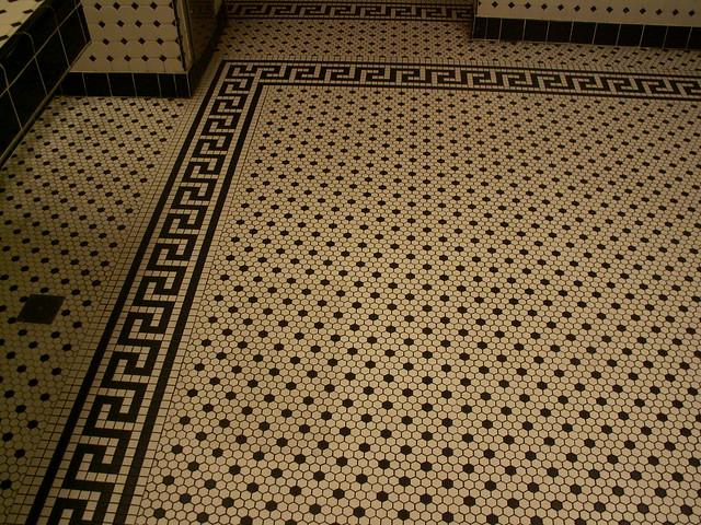 Hollywood Brown Derby - Restroom - Floor tile detail