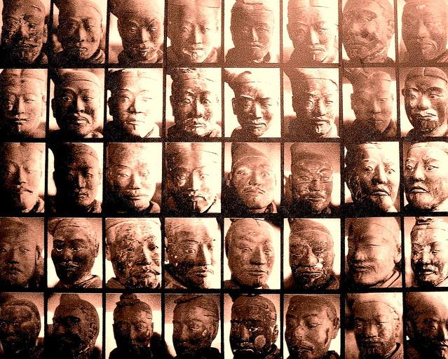 Terracotta Warriors Face Faces of Terracotta Warriors