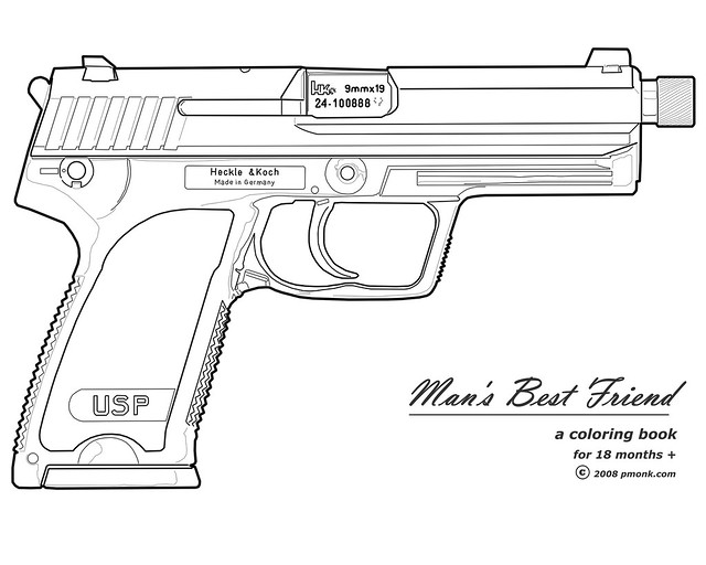 machine gun coloring pages - photo#22