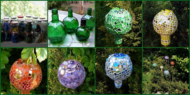 Recycled crafts a gallery on flickr for Garden decorations from recycled materials