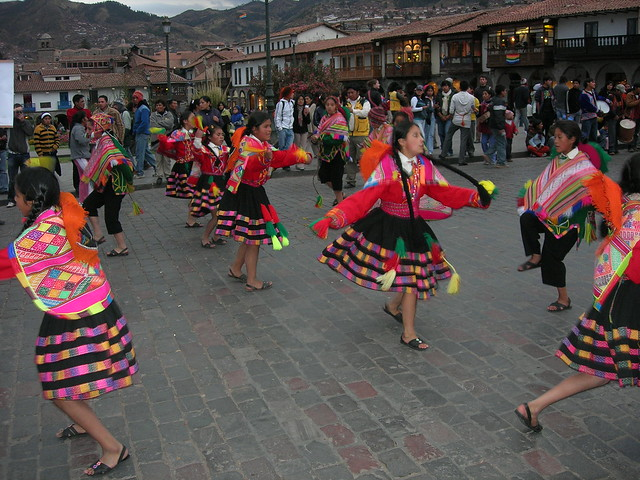 Parade at Plaza De Armas, Cusco