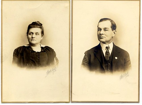 Nellie Schofield and James Frederick Barber by midgefrazel