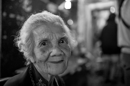 A Woman's Face in B&W - The Beauty of a Good, Lived Life / Thailand   (integrity intact)