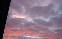 dawn(0.0), cumulus(1.0), cloud(1.0), red sky at morning(1.0), evening(1.0), daytime(1.0), sky(1.0), dusk(1.0), sunset(1.0), sunrise(1.0), afterglow(1.0),