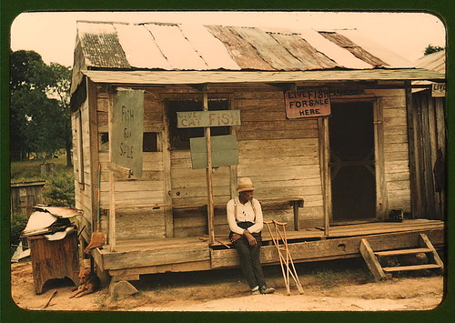 A store with live fish for sale, vicinity of Natchitoches, La. (LOC)