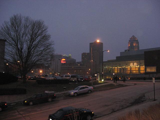 Downtown Des Moines at Dusk