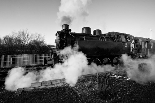 Nene Valley Railway Steam Train (Black & White)