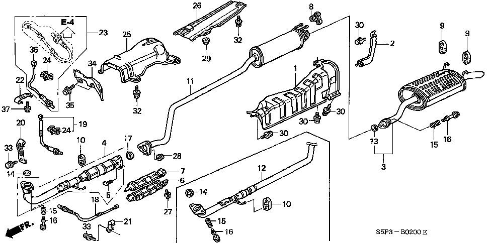 2003 Honda Civic Exhaust System Diagram Wiring Diagram Photos For