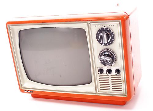 retro vintage television orange tv set flickr photo sharing. Black Bedroom Furniture Sets. Home Design Ideas