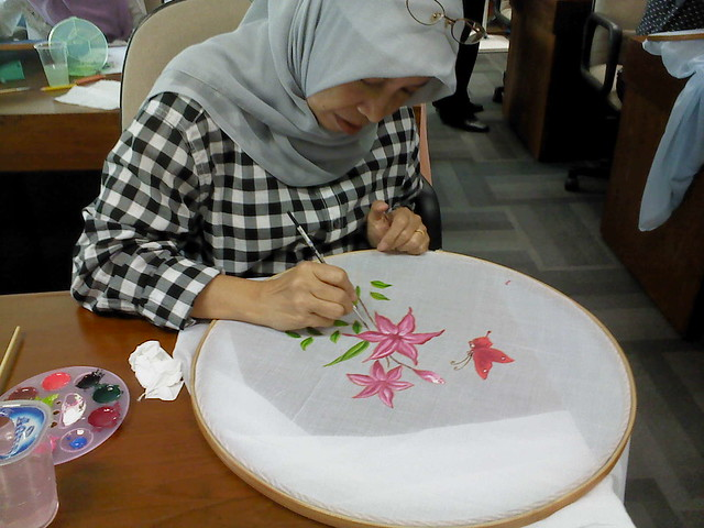 Kursus Lukis Kain Fabric Painting Courses Flickr Sharing