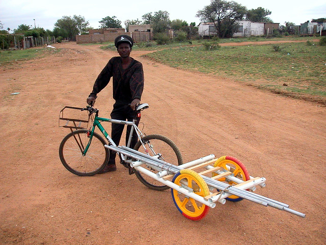 how to build a push bike trailer