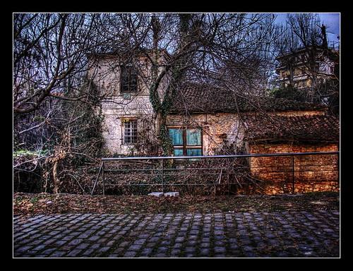 park trees house mill water santabarbara greece macedonia drama hdr atmospheric lucisart photomatix abigfave northgreece