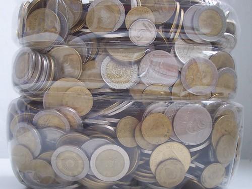 Monedas guardadas