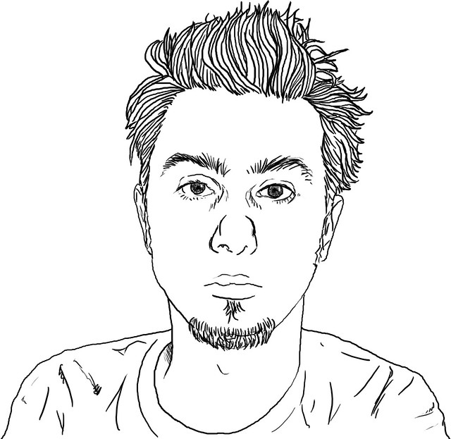 Line Drawing Portrait : Self portrait line drawing flickr photo sharing