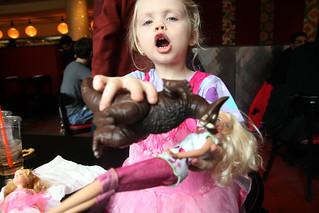 eating Barbie